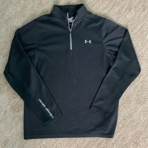 Under Armour Black 1/4 Zip Athletic Long Sleeve